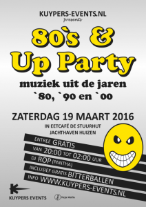 Flyer 80s & Up Party